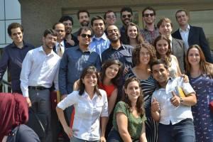Delegação Brasileira, selecionada por meio do concurso para participar da viagem